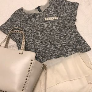 -STYLE & CO-  crop layered blouse